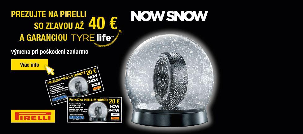 Akcia Pirelli zľava až 40 Eur na prezutie(zima)